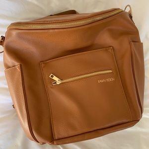 Fawn Design Original Diaper Bag Backpack in Brown